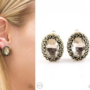 Rhinestone Clip-On Earrings - Fashion Accessories